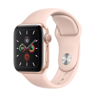 Apple Watch Series 5 40mm Gold Aluminium Case with Pink Sand Sport Band